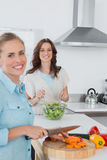 Relaxed women cooking together Stock Photography