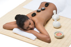 Relaxed women at SPA. Stock Photos