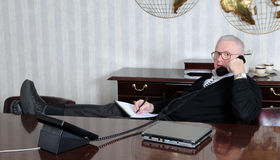 Relaxed at Work Royalty Free Stock Photography