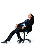 Relaxed worker is tired Royalty Free Stock Image