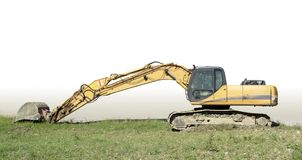Relaxed yellow digger Royalty Free Stock Photo