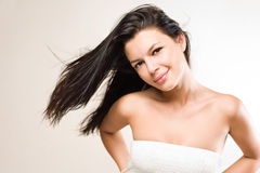 Relaxed young brunette. Stock Photos