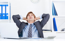 Businessman working in the office Stock Image