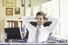 Relaxed Young Businessman Stock Photos