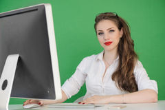 Relaxed young businesswoman Royalty Free Stock Images