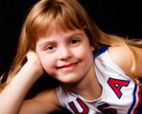 Relaxed Young Cheerleader Stock Photos