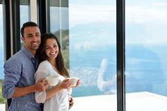 Relaxed young couple at home Royalty Free Stock Photography