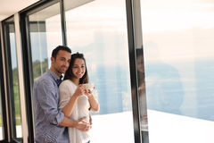 Relaxed young couple at home Royalty Free Stock Photo