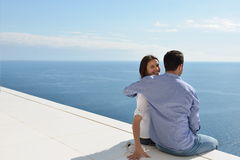 Relaxed young couple at home Royalty Free Stock Photos