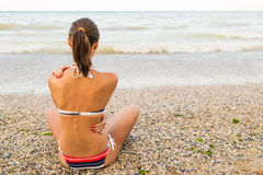 Relaxed Young Girl Stock Image