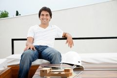 Relaxed Young Male Architect Royalty Free Stock Photos