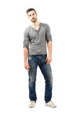 Relaxed young male model posing Royalty Free Stock Photos