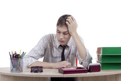 Relaxed young man office worker Royalty Free Stock Photography