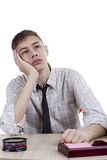 Relaxed young man office worker Royalty Free Stock Photo