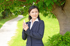 Relaxed young woman Royalty Free Stock Photography
