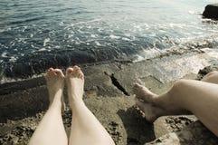 Relaxin couple Stock Photos