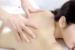 Relaxin during  massage Stock Image