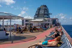 Relaxing Aboard Celebrity Summit Royalty Free Stock Photo