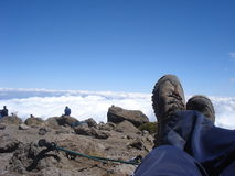 Relaxing above the clouds Royalty Free Stock Images