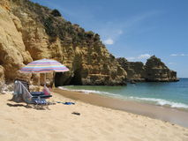 Relaxing on the Algarve Stock Image