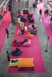 Relaxing area at Chibimart 2013 in Milan, Italy Royalty Free Stock Photography