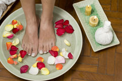 Relaxing aromatherapy spa for feet Stock Photography
