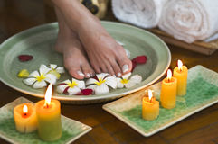 Relaxing aromatherapy spa for feet 7 Royalty Free Stock Image
