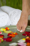 Relaxing aromatherapy spa for feet 8 Royalty Free Stock Images