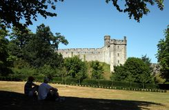 Relaxing in Arundel Castle's grounds Royalty Free Stock Photo