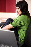 Relaxing asian girl Royalty Free Stock Images