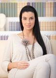 Relaxing attractive woman Royalty Free Stock Images