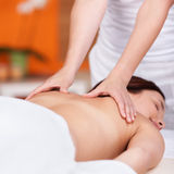 Relaxing back rub Stock Photography