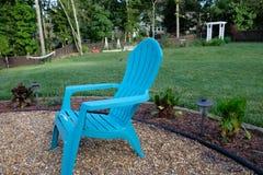 Relaxing in the backyard Stock Image