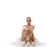 Relaxing ballet dancer Royalty Free Stock Images