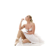 Relaxing ballet dancer Royalty Free Stock Photography