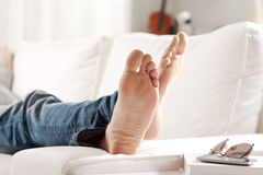 Relaxing barefoot Royalty Free Stock Photography