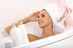 Relaxing in bath Royalty Free Stock Image