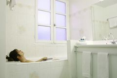 Relaxing in a bath Royalty Free Stock Image