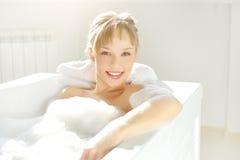 Relaxing in bath Stock Photos