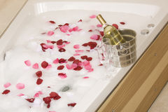 A relaxing bath Stock Image