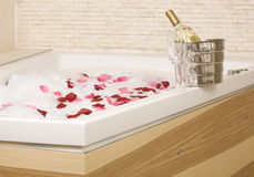 A relaxing bath Stock Images