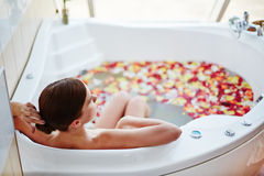 Relaxing in a bath Royalty Free Stock Images