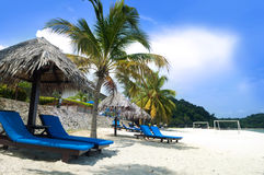 Relaxing on beach Royalty Free Stock Images