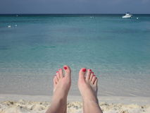 Relaxing at the Beach. Relaxing at a tropical beach Stock Photography