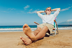 Relaxing at the Beach Stock Photography