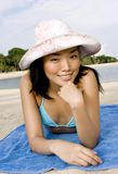 Relaxing On Beach Stock Photography