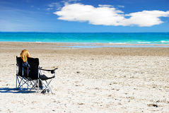 Relaxing on a beach Royalty Free Stock Photos
