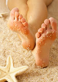 Relaxing on the beach Royalty Free Stock Images