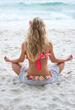 Relaxing on the beach Stock Photography