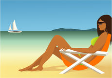 Relaxing on the beach Royalty Free Stock Photos